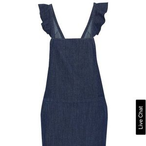 Mikki ruffle-trimmed denim mini dress